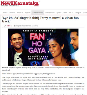 news karnatak article on fan ho gaya song