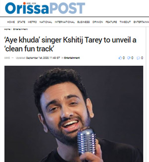 Orissa Post Article Kshitij Tarey Clean Fun Track