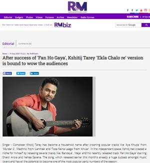 Radio and Music - Kshitij Tarey Ekla Chalo re